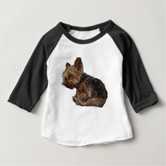 Sleeping Yorkie Baby T-Shirt