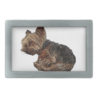 Sleeping Yorkie Belt Buckle