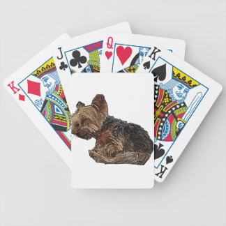 Sleeping Yorkie Bicycle Playing Cards