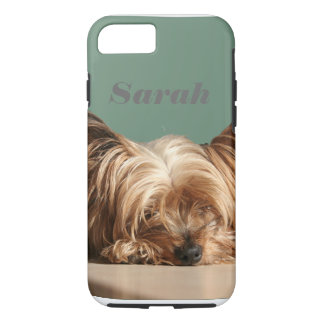 Sleeping Yorkie dog. iPhone 8/7 Case