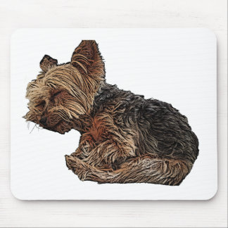Sleeping Yorkie Mouse Pad