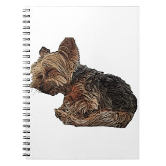 Sleeping Yorkie Notebook