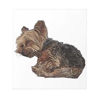 Sleeping Yorkie Notepad