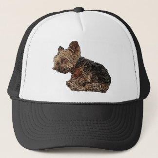 Sleeping Yorkie Trucker Hat