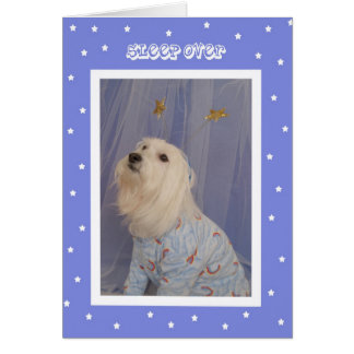 Sleepover Birthday Invitations -- Cute Dog