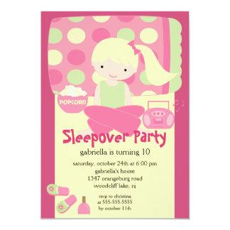"Sleepover Birthday Party 5"" X 7"" Invitation Card"