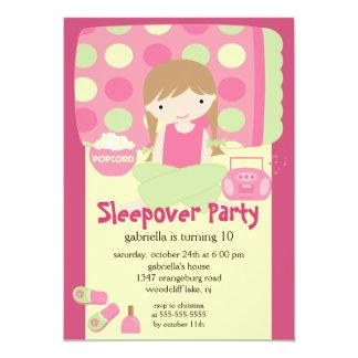 """Sleepover Birthday Party Inviation 5"""" X 7"""" Invitation Card"""