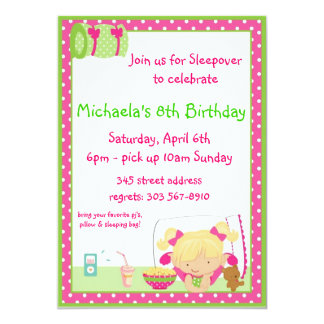 Sleepover Blonde Card