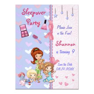 Sleepover Friends Slumber Birthday Party Card