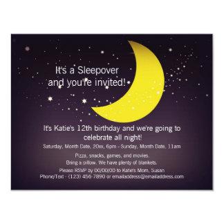 Sleepover Moon and Stars Card
