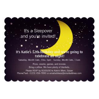 Sleepover Moon and Stars 5x7 Paper Invitation Card
