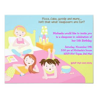 "Sleepover Party 4.25"" X 5.5"" Invitation Card"