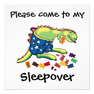 sleepover party personalized invitations