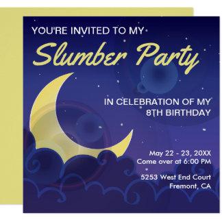 Sleepover Party   Slumber Party Birthday Invite