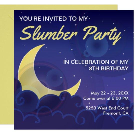 Sleepover Party | Slumber Party Birthday Invite