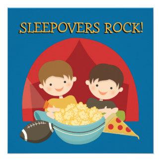 Sleepovers Rock Personalized Invites