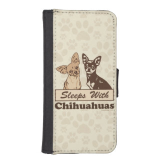 Sleeps With Chihuahuas Phone Wallet