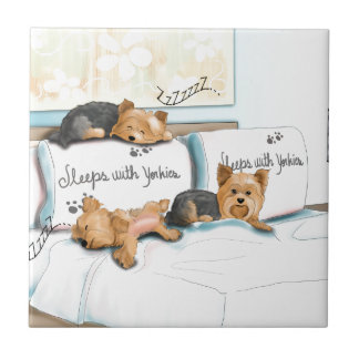 Sleeps with Yorkies by Catia Cho Tile