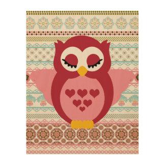 Sleepy Angel Owl Pastel Wood Canvases
