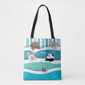 Sleepy Animals Tote Bag