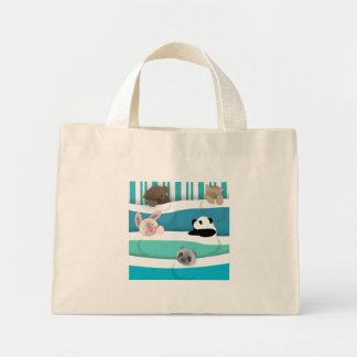 Sleepy Baby Animals Mini Tote Bag
