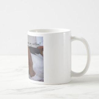 Sleepy Basset Hound Coffee Mug