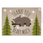Sleepy Bear Thank You Stars Card
