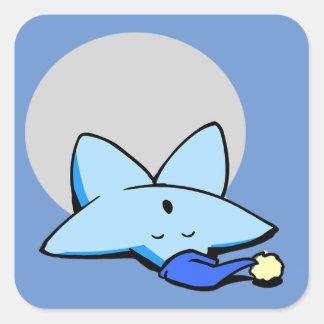 Sleepy Blue Star Sticker