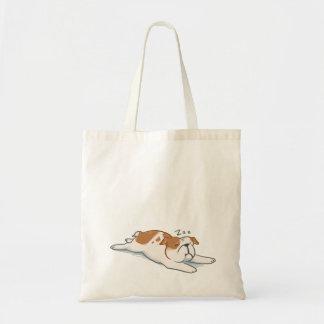 Sleepy Bulldog Tote Bag