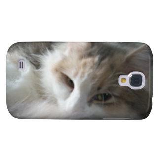 Sleepy Calico Cat Galaxy S4 case