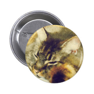 Sleepy Cat Button