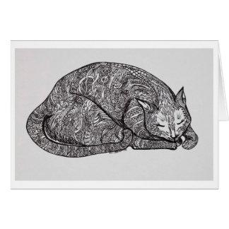 sleepy cat cards