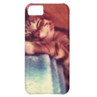Sleepy cat iPhone 5C cover