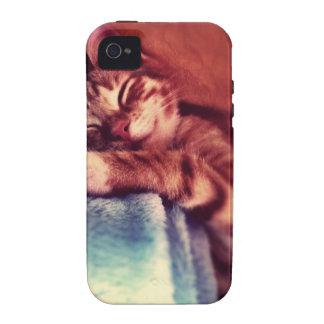 Sleepy cat iPhone 4 cover