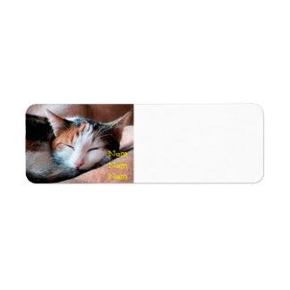 Sleepy Cat Custom Return Address Labels