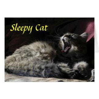 Sleepy Cat - Maine Coon Greeting Card