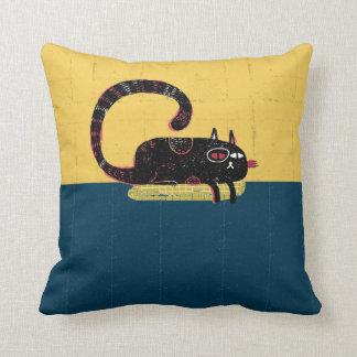sleepy cat on pillow