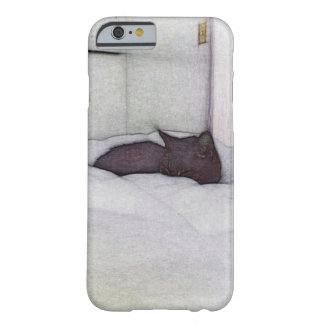 Sleepy cat sketch barely there iPhone 6 case