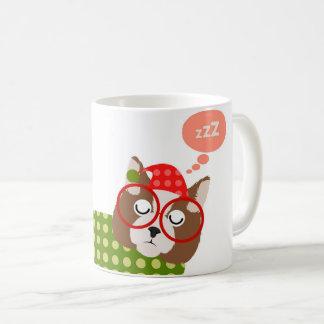 Sleepy Christmas Cat Holiday Mug