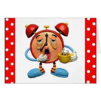 Sleepy Clock Greeting Card