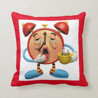 Sleepy Clock Throw Pillow