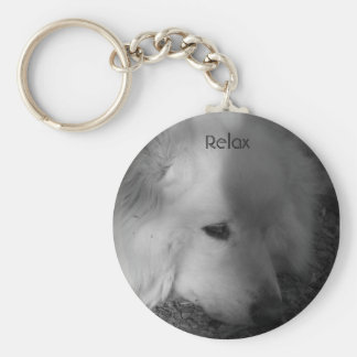 Sleepy Dog Keychain