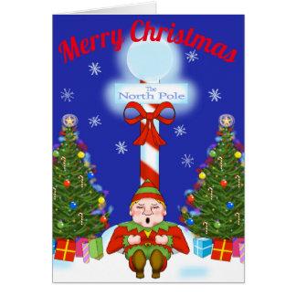 Sleepy Elf Christmas Greeting Card