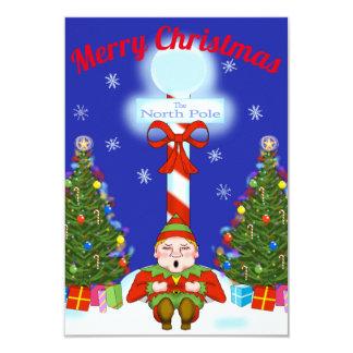 Sleepy Elf Christmas Party Invitation