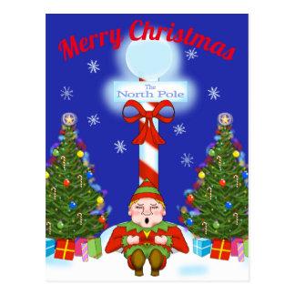 Sleepy Elf Christmas Postcard