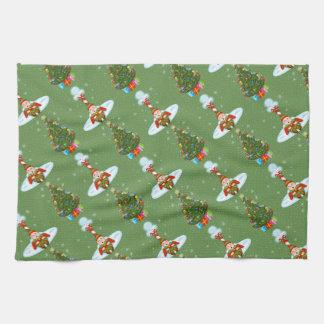 Sleepy Elves Christmas Kitchen Towel