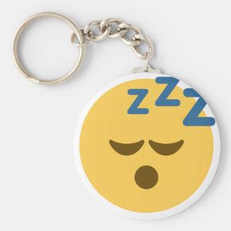 Sleepy Emoji Basic Round Button Keychain