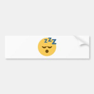 Sleepy Emoji Bumper Sticker