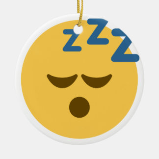 Sleepy Emoji Ceramic Ornament