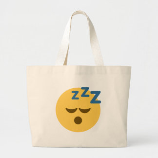 Sleepy Emoji Large Tote Bag
